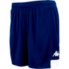 Kappa Paggo short in blue marine with white contrast yoke on bottom side and white printed Omini on leg