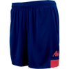 Kappa Paggo short in blue marine with red contrast yoke on bottom side and red printed Omini on leg