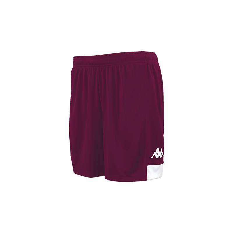 Kappa Paggo Short in Bordeaux (claret) colour with white contrast logo