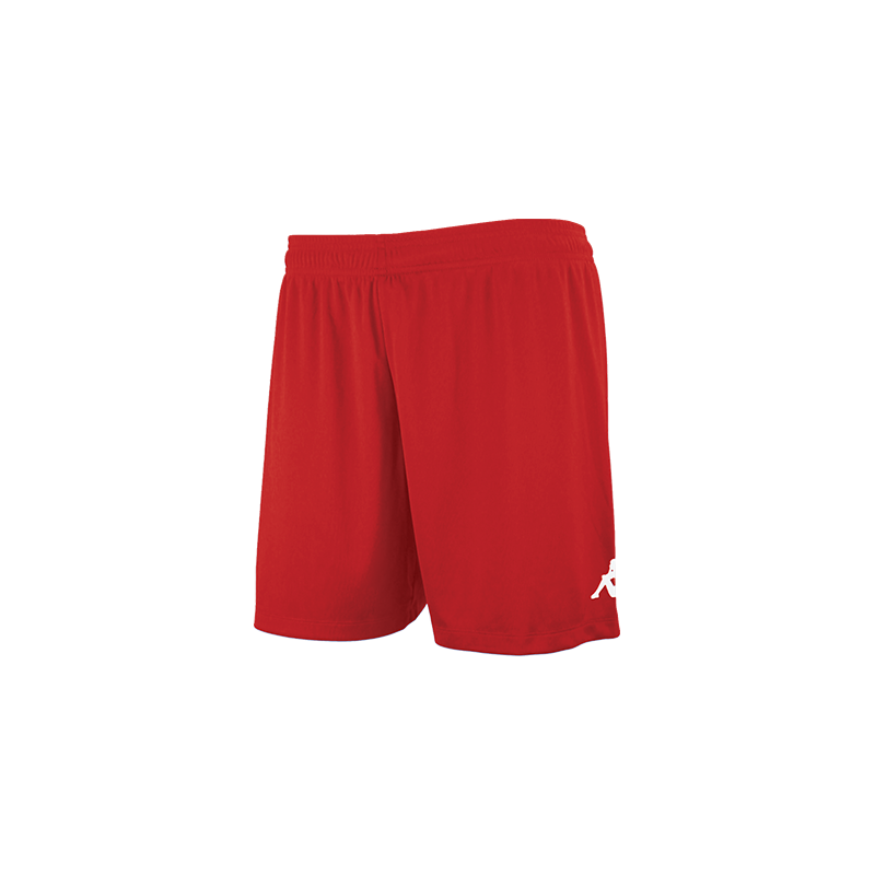 Kappa Redena Woman Match Short in red with white printed Omini on the leg