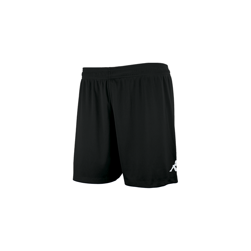 Kappa Redena Woman Match Short in black with white printed Omini on the leg