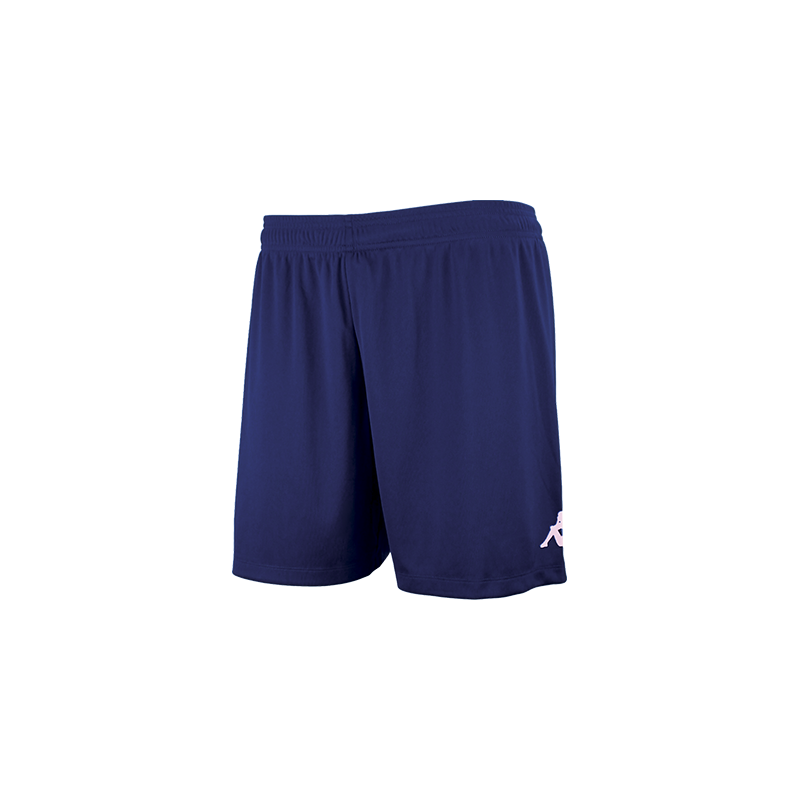 Kappa Redena Woman Match Short in blue marine (navy) with white printed Omini on the leg