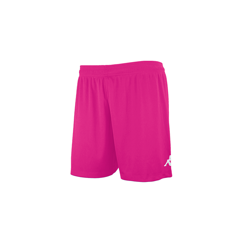 Kappa Redena Woman Match Short in fuchsia with a printed Omini on the leg