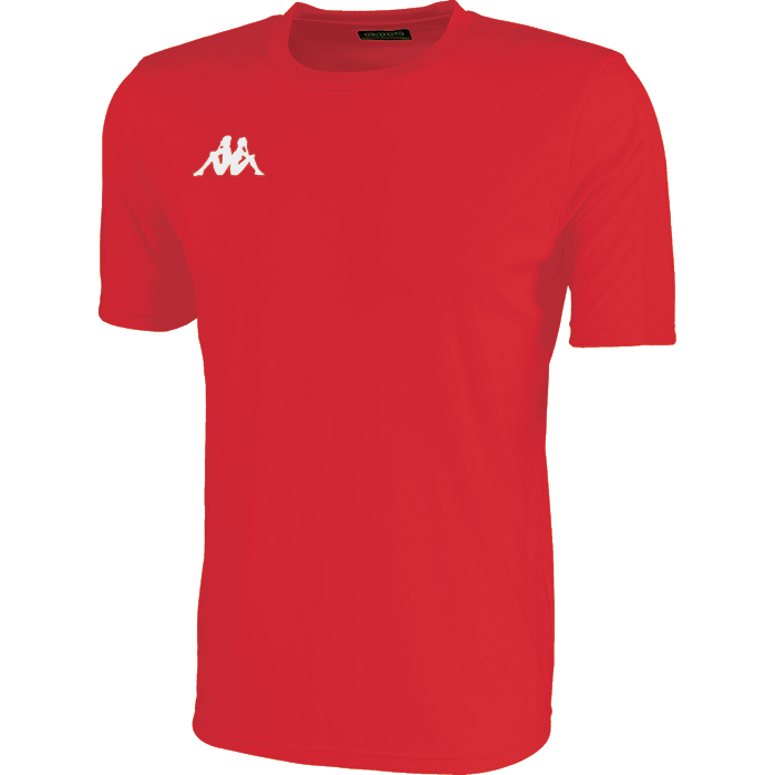 Kappa Rovigo short sleeve shirt in red with white embroidered Omini on the chest.