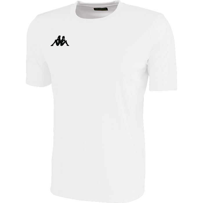Kappa Rovigo short sleeve shirt in white with black embroidered Omini on the chest.