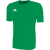 Kappa Rovigo short sleeve shirt in green with white embroidered Omini on the chest.