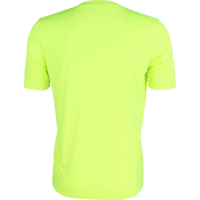 Back of Kappa Rovigo short sleeve shirt in yellow fluo