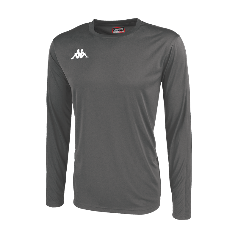 Kappa Rovigo long sleeve shirt in smoke (grey) with embroidered Omini on the chest