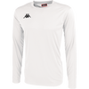 Kappa Rovigo long sleeve shirt in white with black embroidered Omini on the chest.