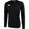 Kappa Rovigo long sleeve shirt in black with embroidered Omini on the chest