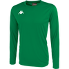 Kappa Rovigo long sleeve shirt in green and white embroidered Omini on the chest.
