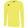 Kappa Rovigo long sleeve shirt in yellow fluo with black embroidered Omini on the chest.