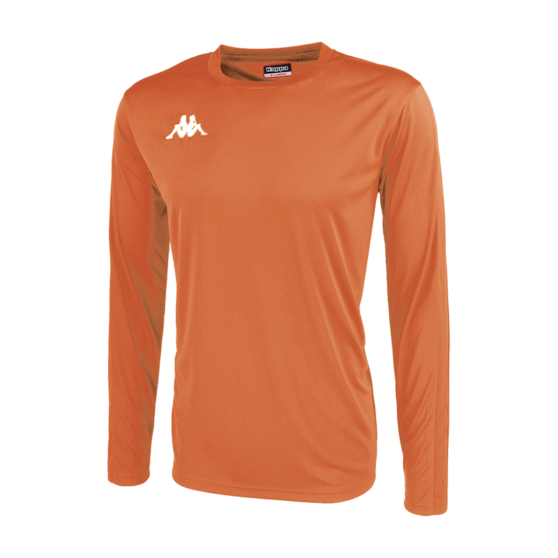 Kappa Rovigo Match Shirt LS - Orange Flame/White