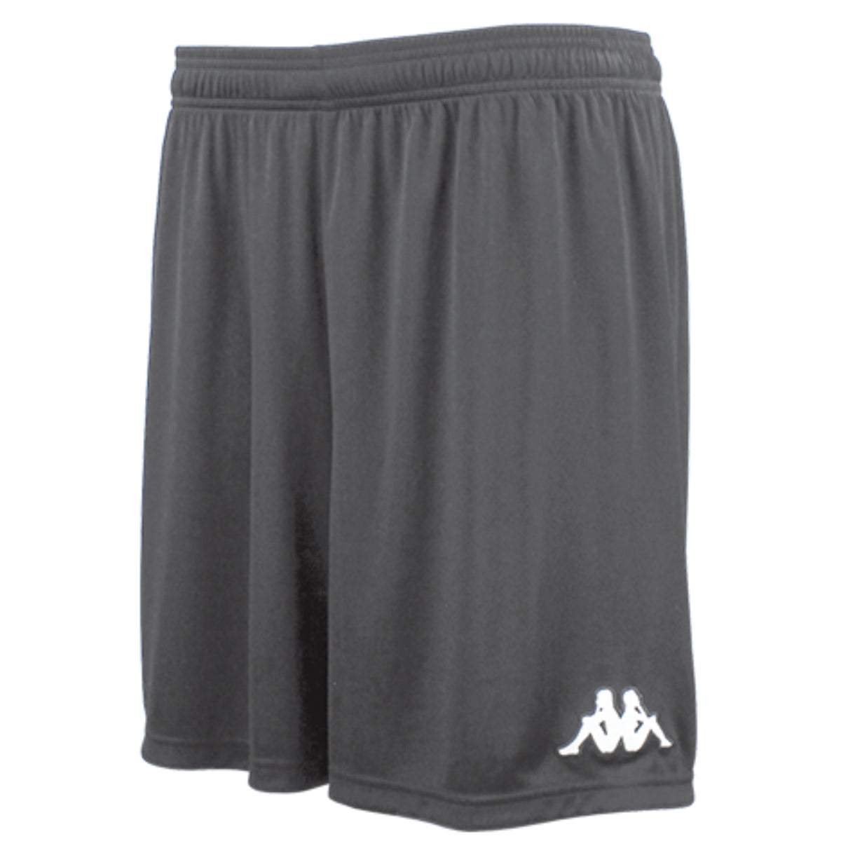 Kappa Vareso match short in smoke (grey) with white embroidered Omini on the left leg.