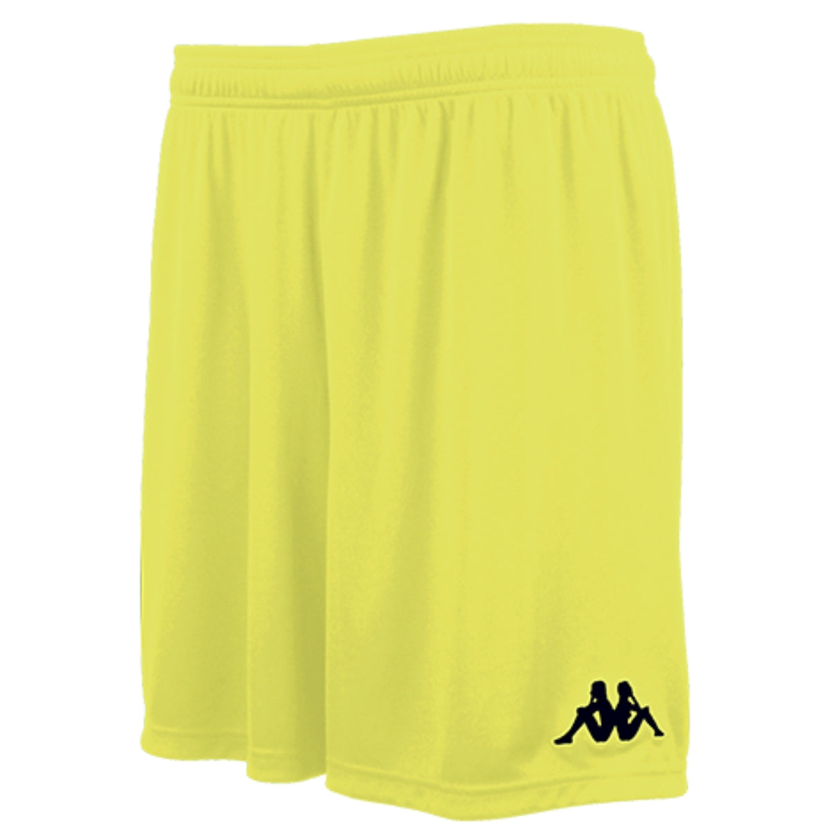 Kappa Vareso match short in yellow fluo with black embroidered Omini on the left leg.