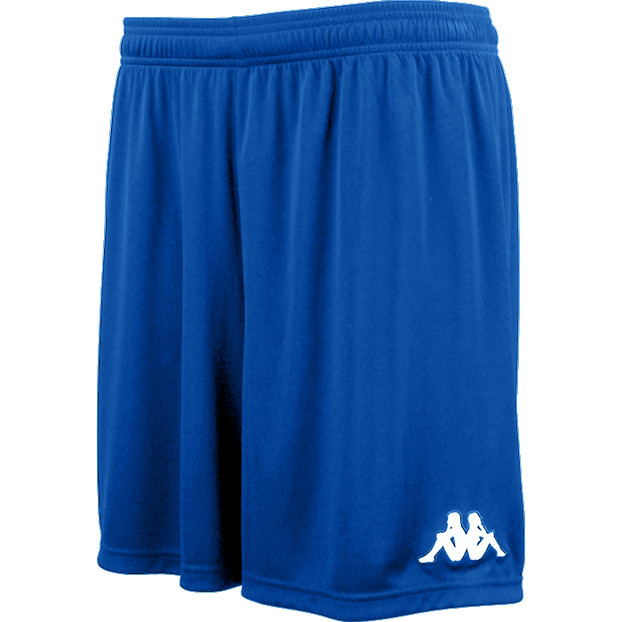 Kappa Vareso match short in blue nautic with white embroidered Omini on the left leg.