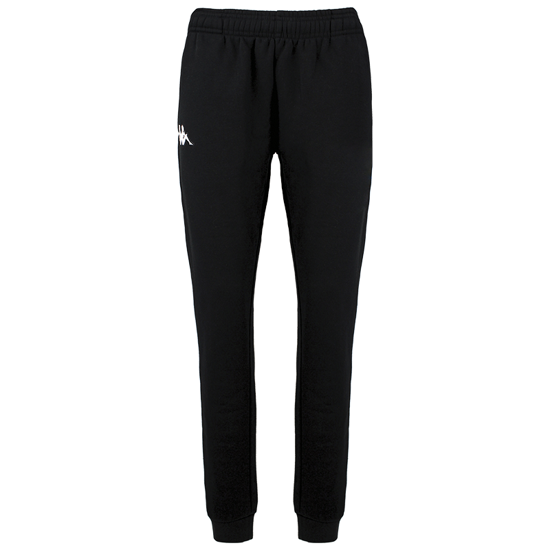 Kappa Bacena woman pant, slim fit in black with embroidered white Omini on the right leg.