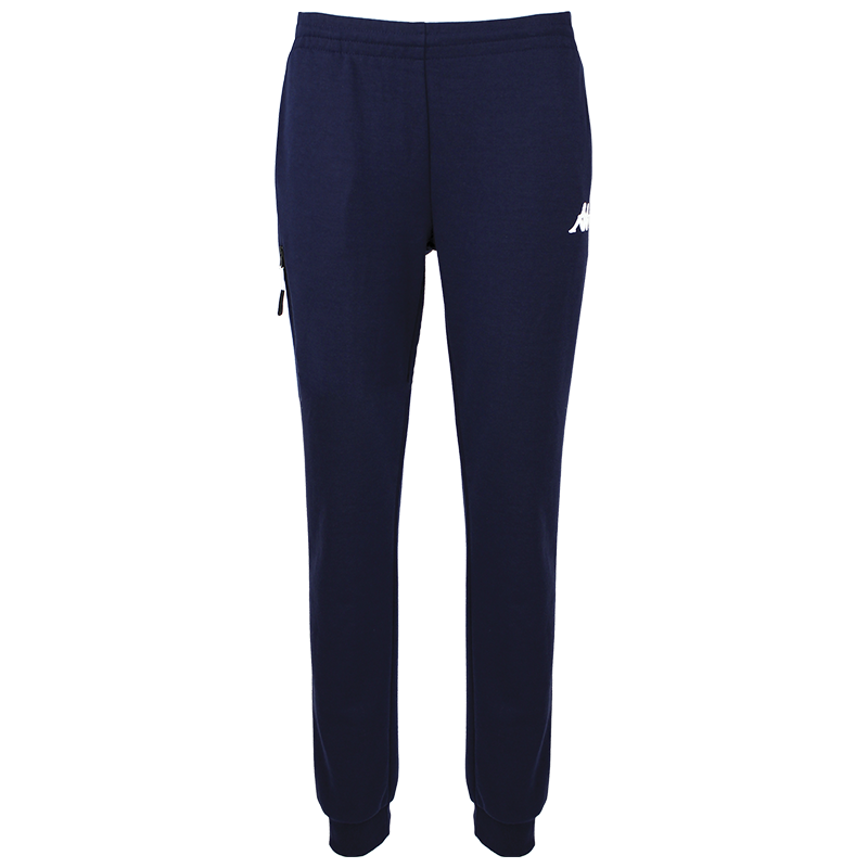 Kappa Chieta woman pant in blue marine (navy) with white printed Omini on the leg.