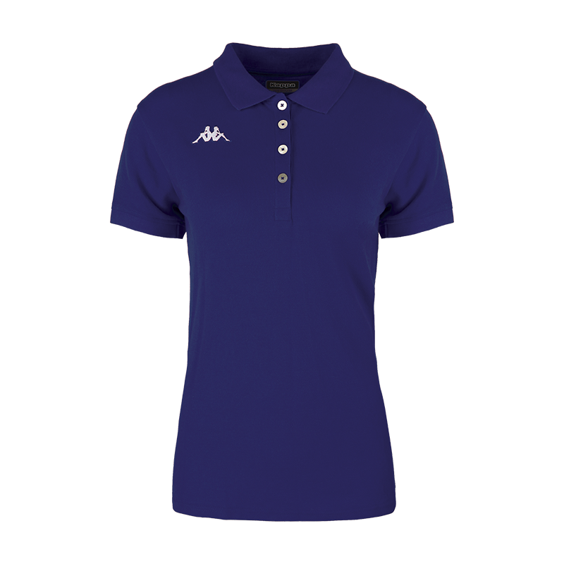 Kappa Menata Woman Polo in blue marine (navy) white Omini on the chest