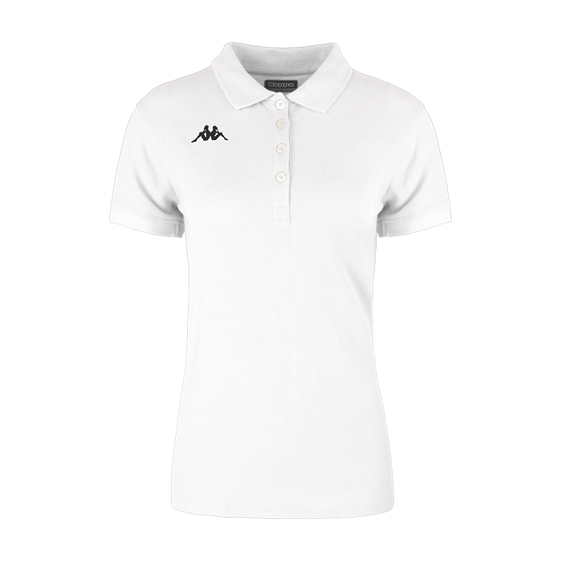 Kappa Menata Woman Polo in black with white Omini on the chest