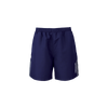 Kappa Passo short in blue marine (navy) with grey contrast panel on the side of each leg