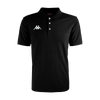 Kappa Peglio Polo in black with embroidered white Omini logo on the chest