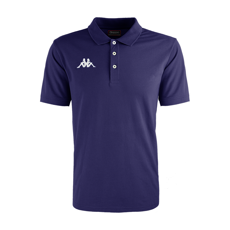 Kappa Peglio Polo in blue marine (navy) with embroidered white Omini logo on the chest