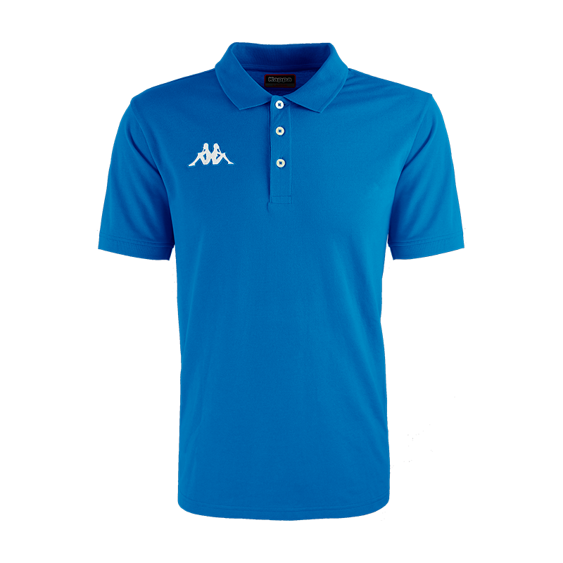 Kappa Peglio Polo in blue nautic (royal blue) with embroidered white Omini logo on the chest