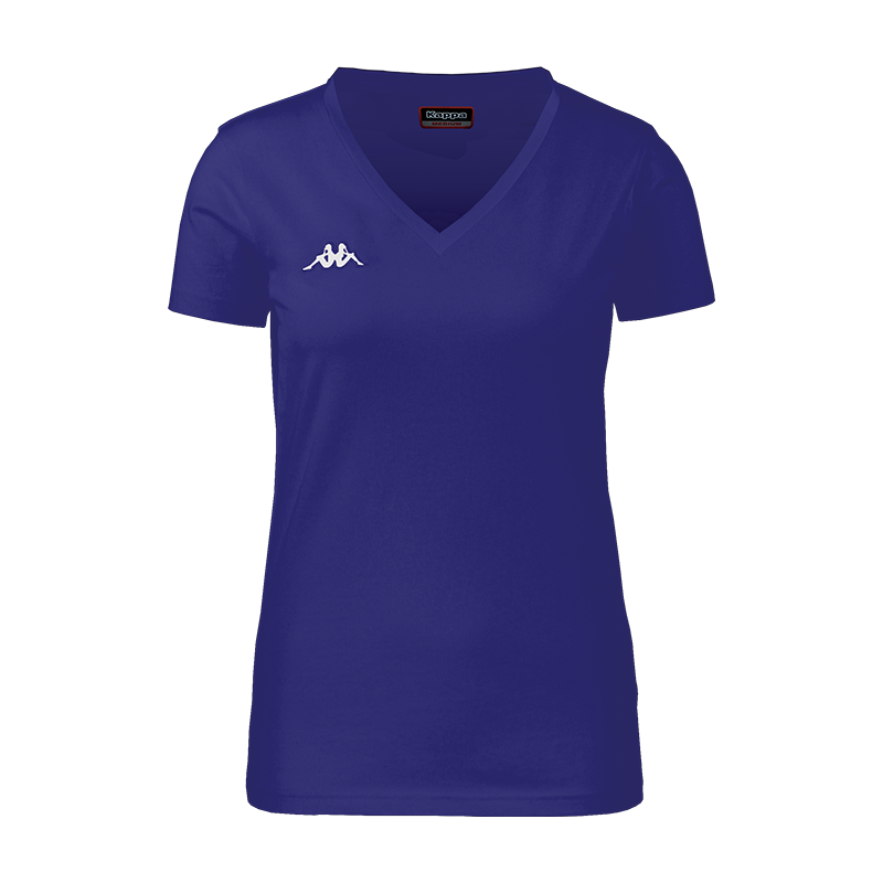 Kappa Meleti womans tee in blue marine with white embroidered Omini logo
