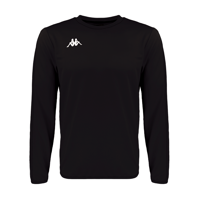 Kappa Talsano sweat in black with white embroidered logo on the chest