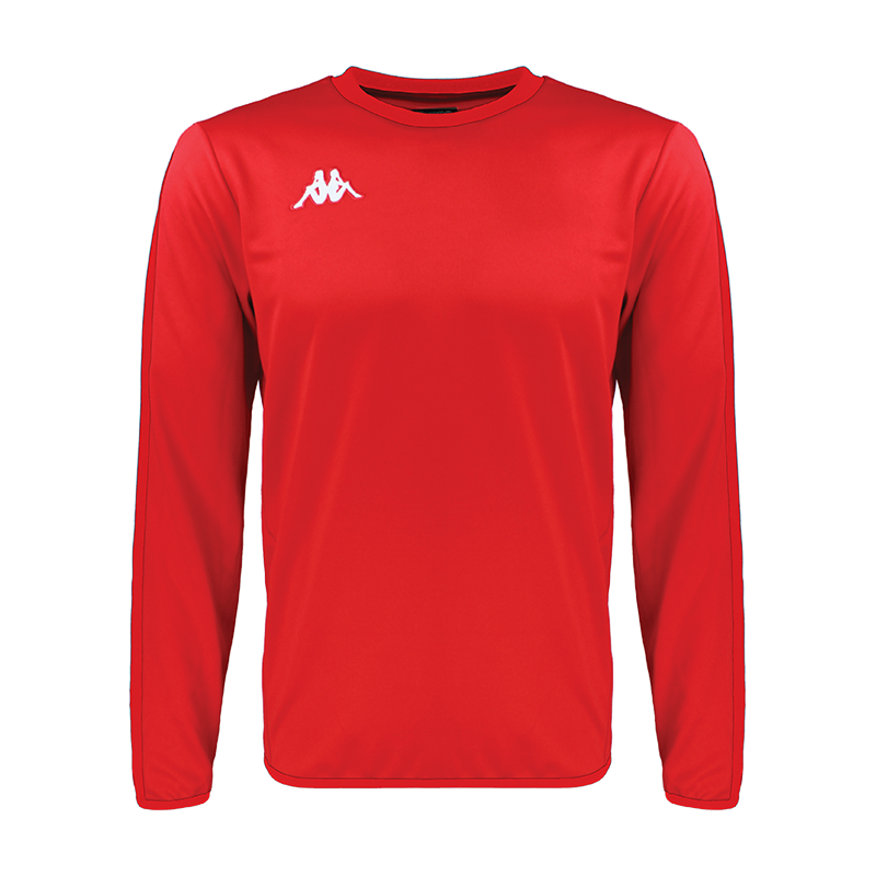 Kappa Talsano sweat in red with white embroidered logo on the chest
