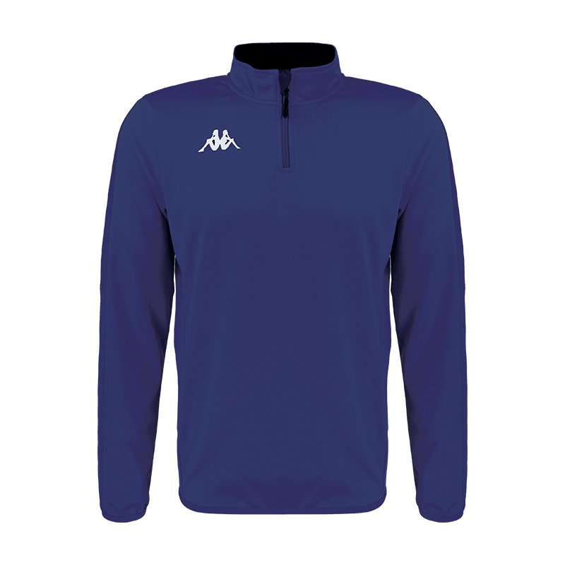 Kappa Tavole 1/4 zip sweat in blue marine (navy) with embroidered white Omini on the chest