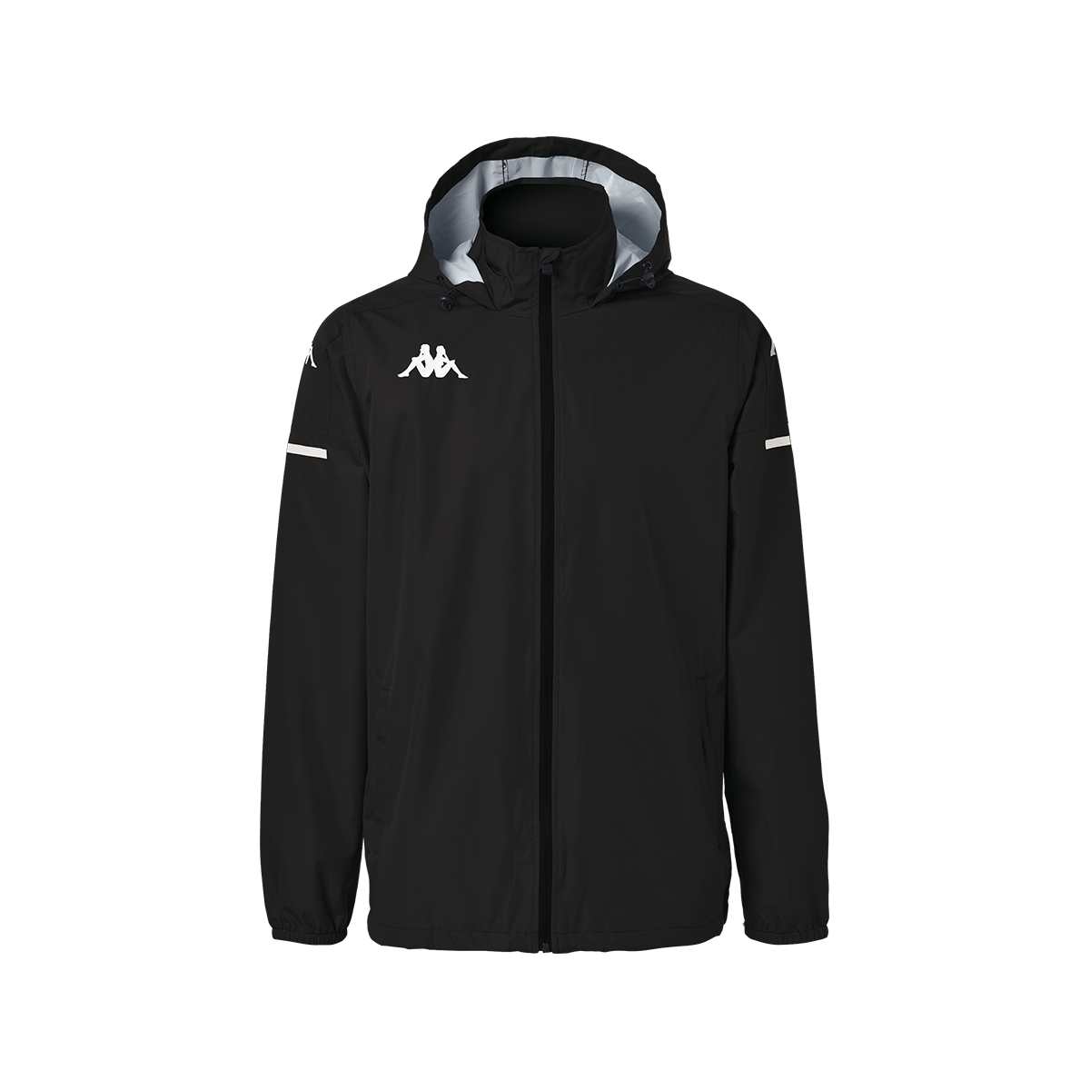 Kappa Adverzip Pro 4 Training Rain Jacket - Black/White