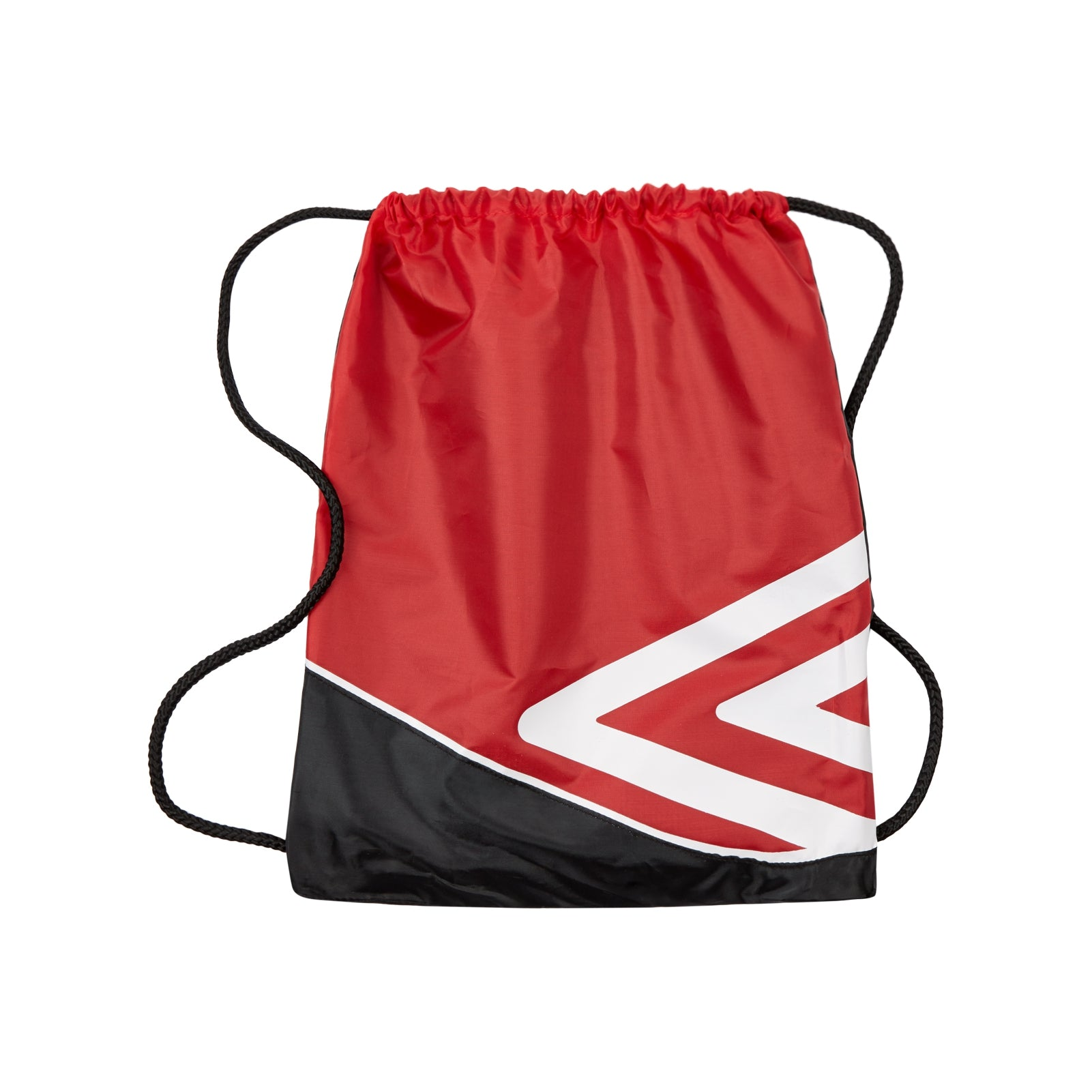 Umbro Pro Training Gymsack in red and black with large double diamond logo in white