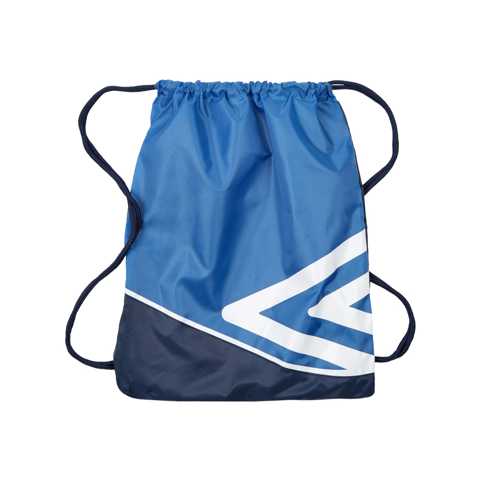 Umbro Pro Training Gymsack in royal, dark navy with large double diamond logo in white