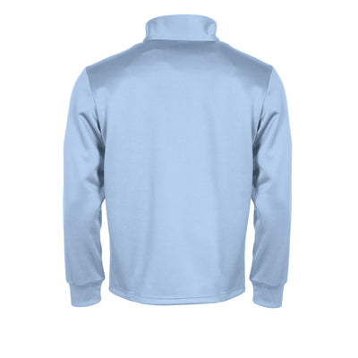 Rear of sky blue Stanno Field half zip
