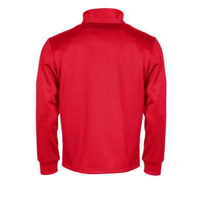 Rear of red Stanno Field half zip