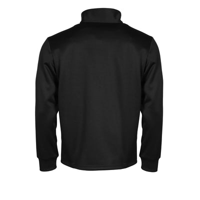 Rear of black Stanno Field half zip