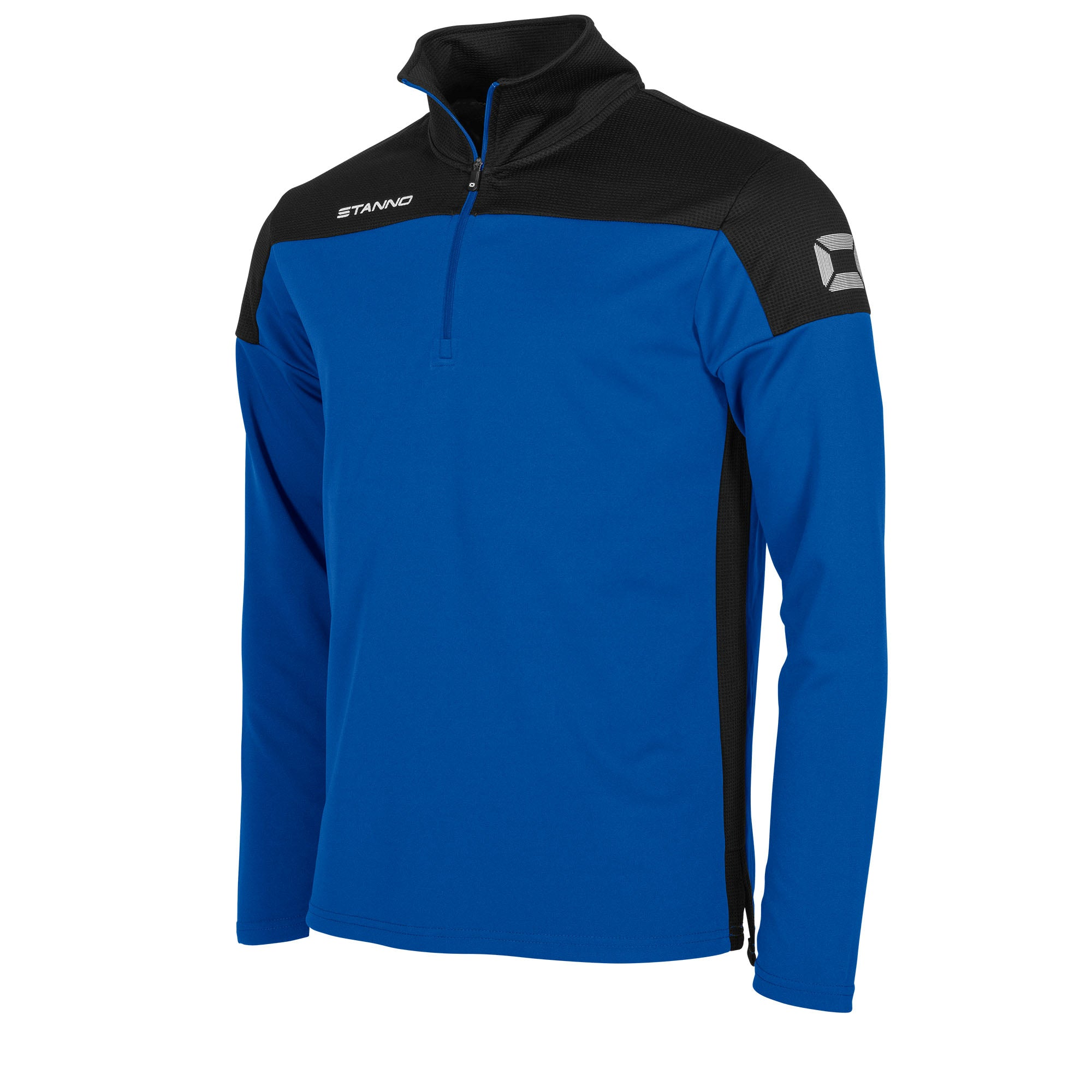 Stanno Pride Training 1/4 Zip in royal with black contrast shoulder and side panel