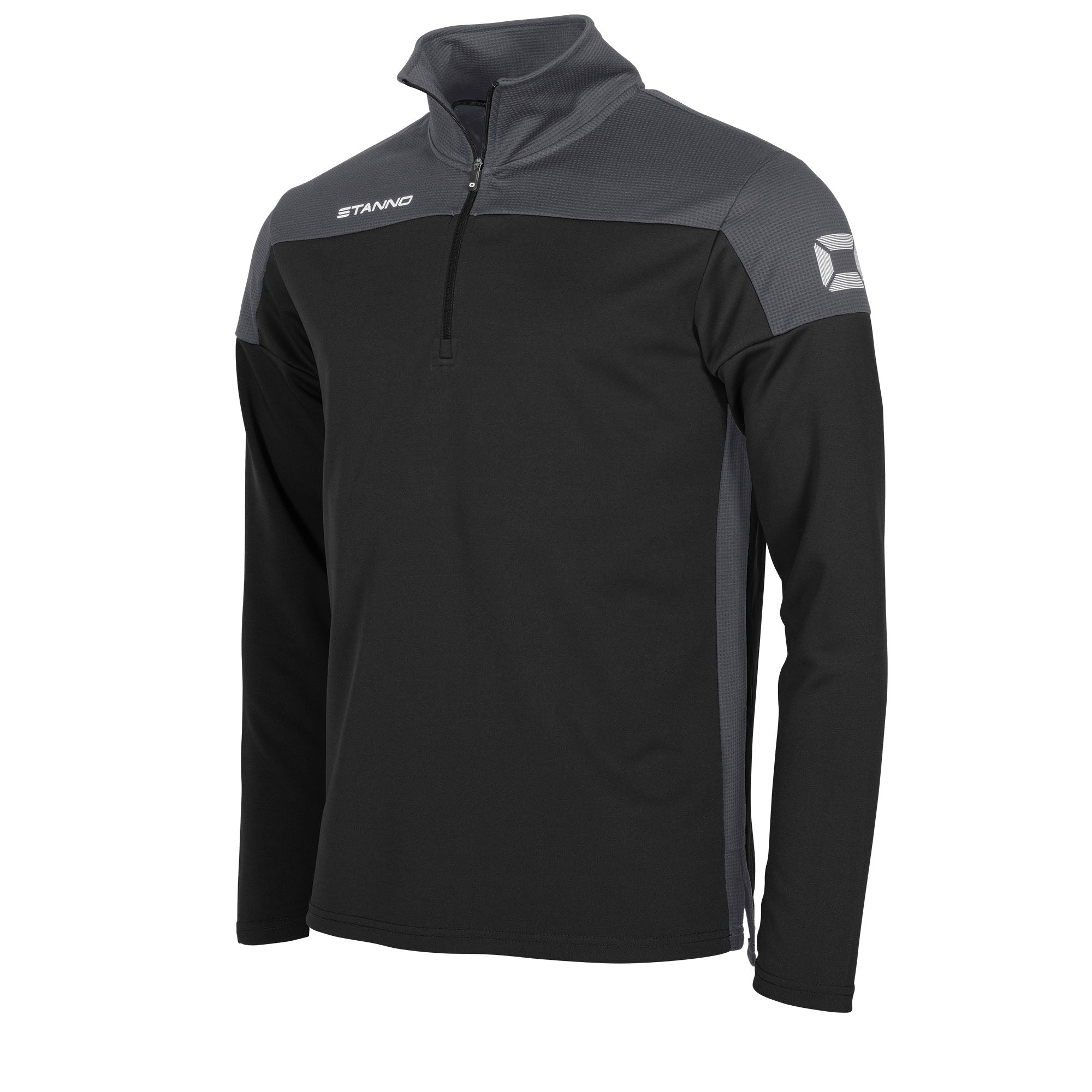Stanno Pride Training 1/4 Zip in black with anthracite contrast shoulder and side panel