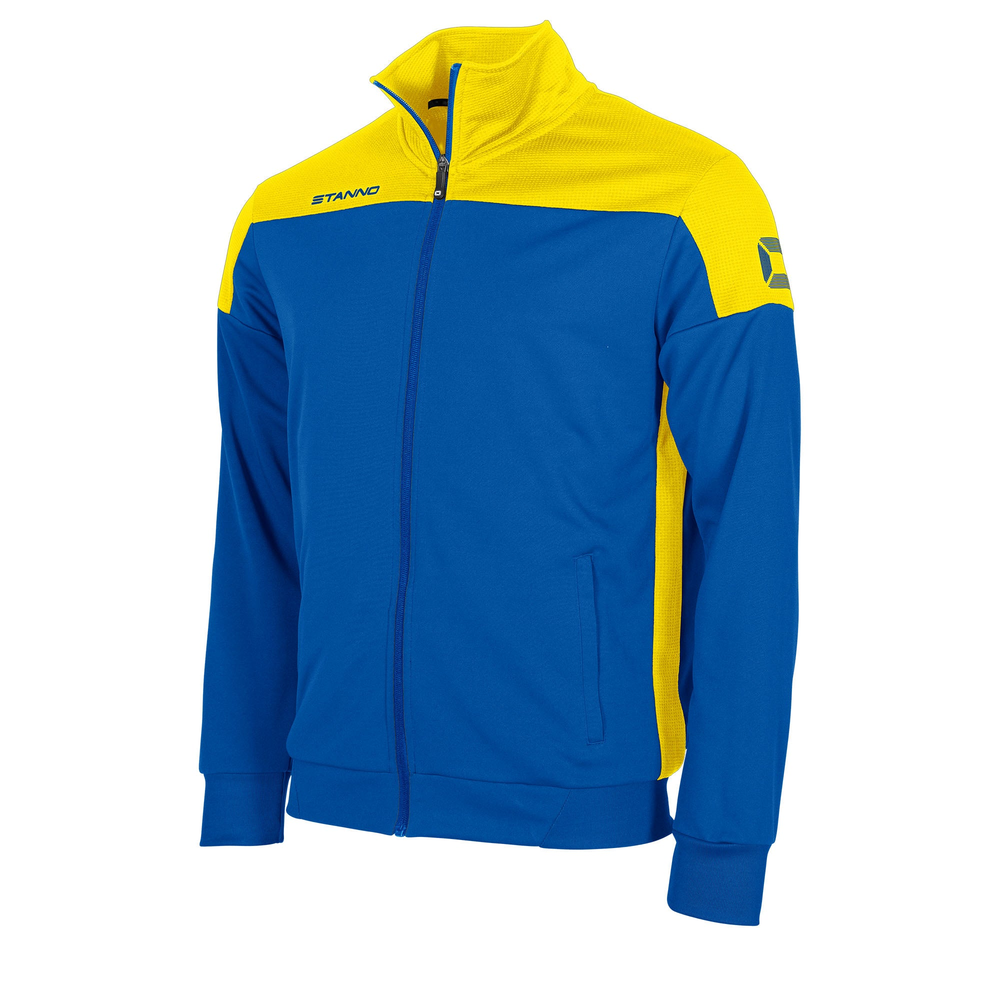 Stanno Pride TTS Jacket full zip in royal blue with yellow contrast shoulders