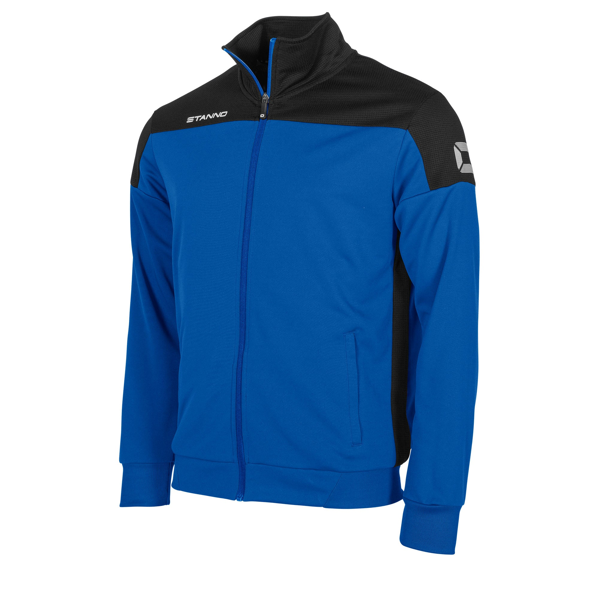 Stanno Pride TTS Jacket full zip in royal blue with black contrast shoulders