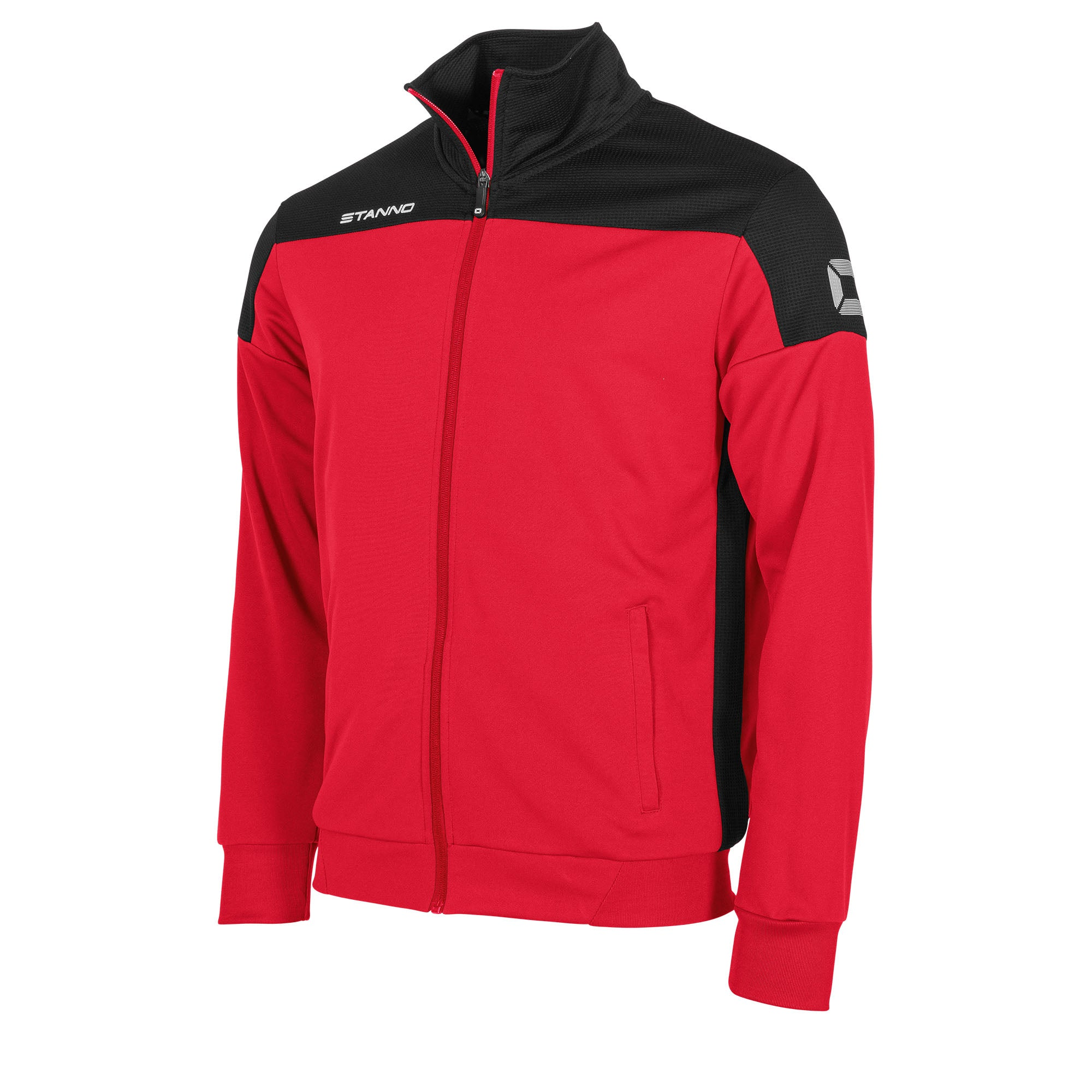 Stanno Pride TTS Jacket full zip in red with black contrast shoulders