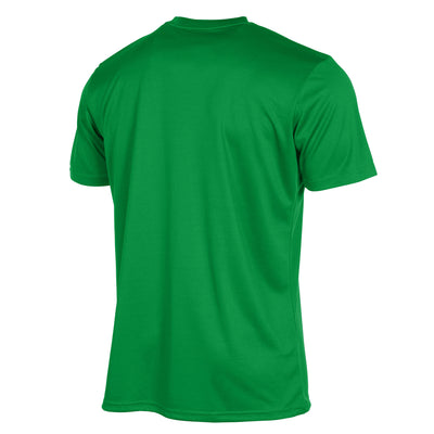 Rear of Stanno Field shirt in green short sleeve
