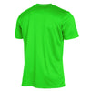 rear of stanno field short sleeved shirt in neon green