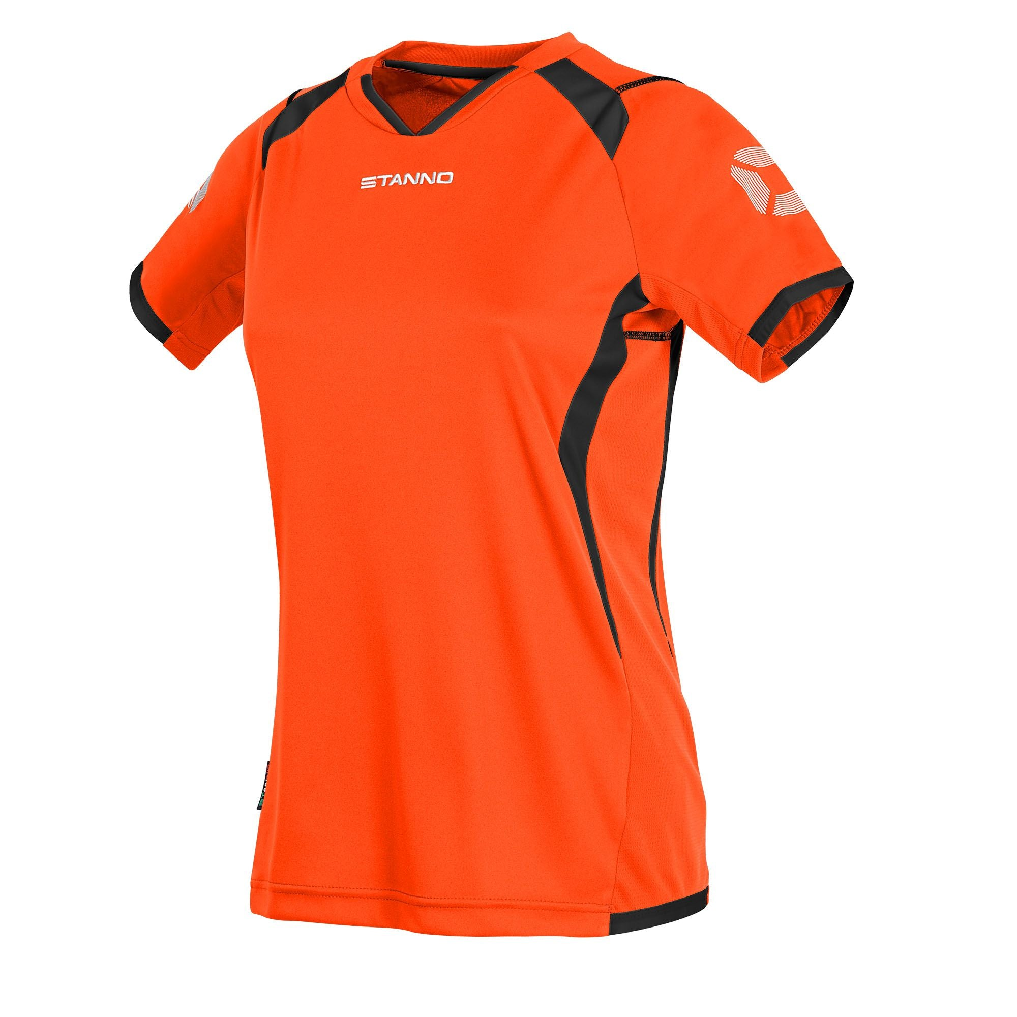 Stanno Olympico Shirt Ladies SS - Shocking Orange/Black