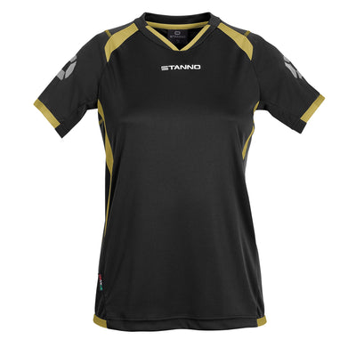 Stanno Olympico Shirt Ladies SS - Black/Gold