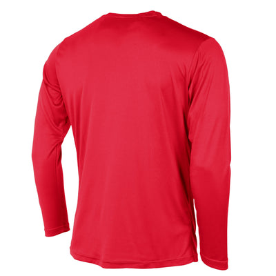 Rear of Stanno Field long sleeve shirt in red