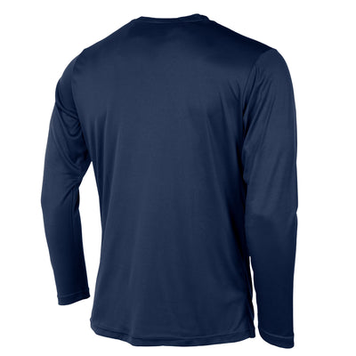 Rear of Stanno Field long sleeve shirt in navy