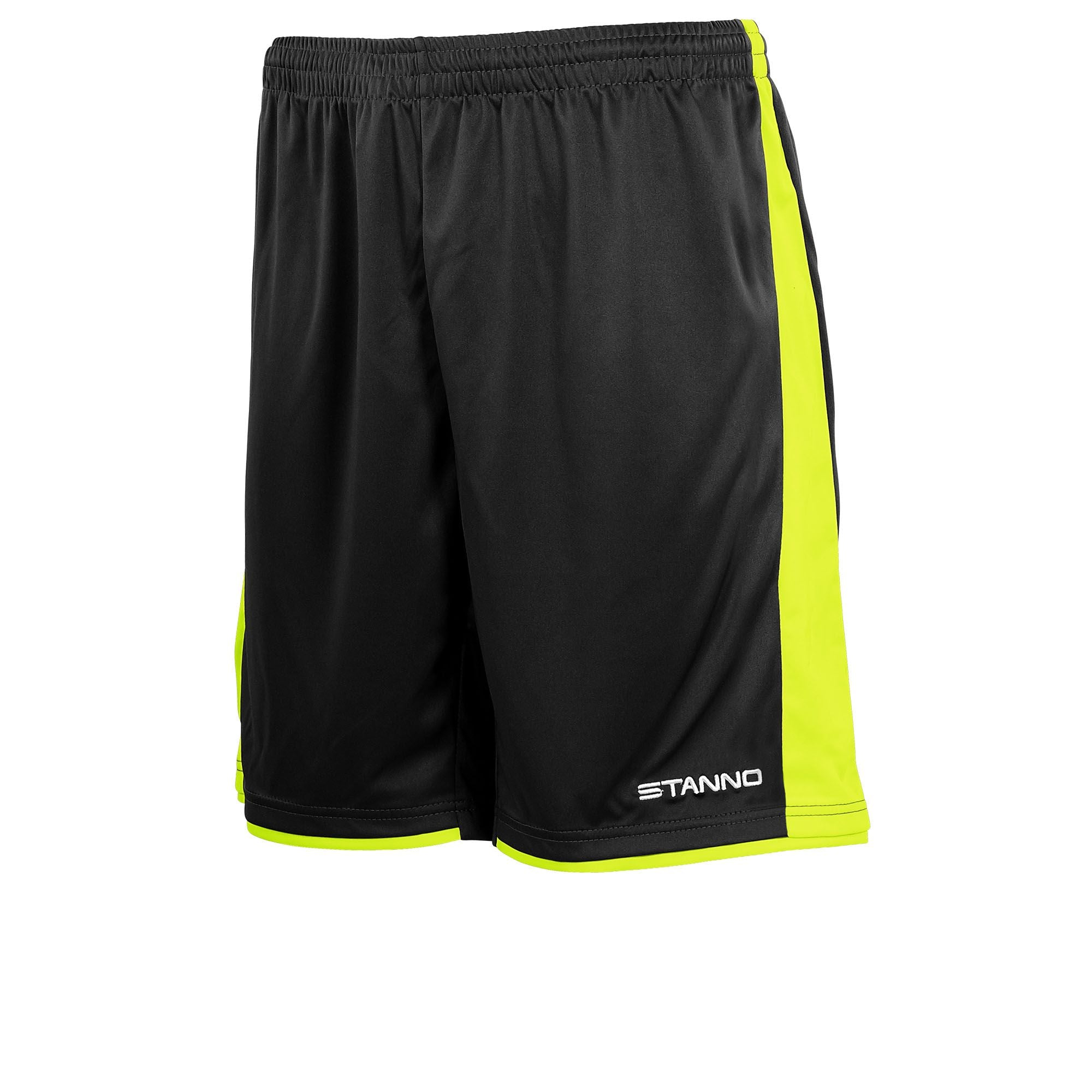 Stanno Milan Shorts - Black/Neon Yellow